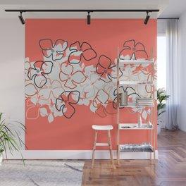 Coral Geraniums Wall Mural