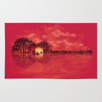 sunset Area & Throw Rugs featuring Musical Sunset by dan elijah g. fajardo