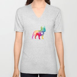French Bulldog Love Unisex V-Neck