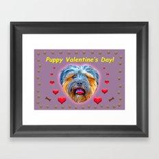 Puppy Valentine's Day! Framed Art Print