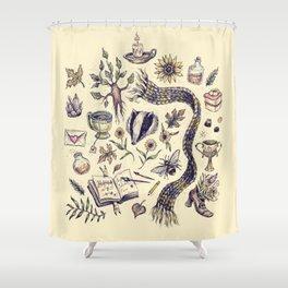 Hufflepuff, Loyal and True Shower Curtain