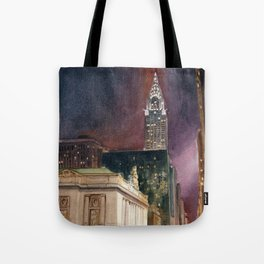 Grand Central Station and the Chrysler Building II Tote Bag