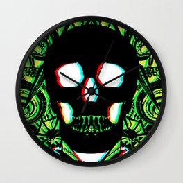 Green Skull 3d Wall Clock