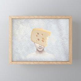 Swiss Cheese Smile Framed Mini Art Print