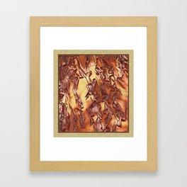 A STUDY OF MADRONA BARK Framed Art Print