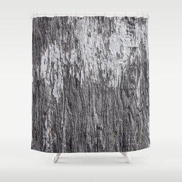 White barn wood Shower Curtain
