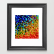 COLLISION COURSE - Bold Rainbow Splash Bricks Urban Jungle Ocean Waves Nature City Acrylic Painting Framed Art Print