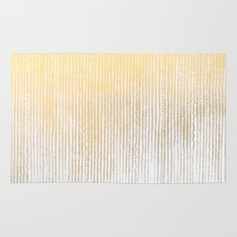 Gold Foil Brushstroke Watercolor Ink Stripes Waterfall Rain Dots Abstract Pattern Rug