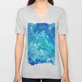 Aqua Ocean Blue Unisex V-Neck