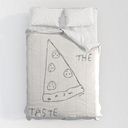 Taste of Life - pizza illustration Comforters