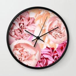 Peony Flower Bouquet Pastel Color #decor #society6 #buyart Wall Clock