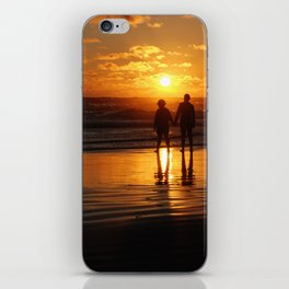 Watching The Burning Waves iPhone Skin