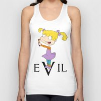 evil Tank Tops featuring eVil by #MadeByTylord