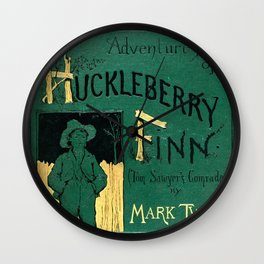 Adventures of Huckleberry Finn - Mark Twain Wall Clock