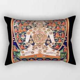 Buddhist Body Mandala Chakra  Rectangular Pillow