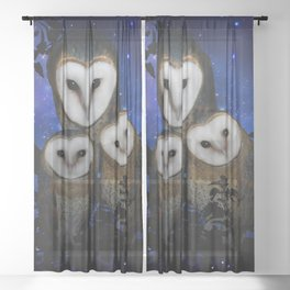 Owl Family Sheer Curtain