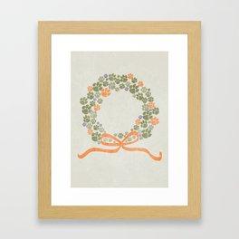 A Merry Clemson Christmas Framed Art Print