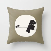 2001 a space odyssey Throw Pillows featuring 2001 Mars Odyssey by Ariel Waldman
