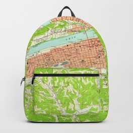 Vintage Map of Huntington West Virginia (1957) Backpack