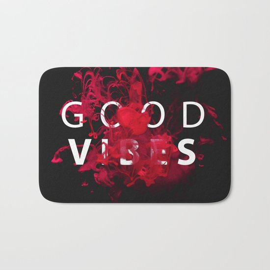 Good Vibes #buyart #lifestyle Bath Mat