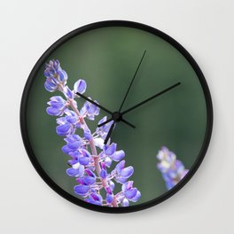 Lupines and dandelions Wall Clock