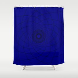 vortex of a trouble mind Shower Curtain