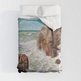 Odysseus And Polyphemus - Arnold Bocklin Comforters