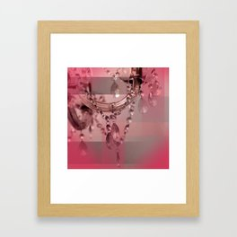 Sparkly Beads on a Chandelier Framed Art Print
