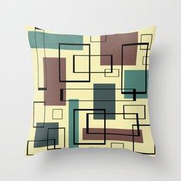 Mid Century Modern Rectangles Throw Pillow
