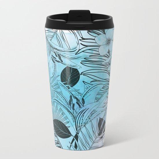 Modern Jungle Metal Travel Mug