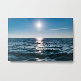 Sea Blue Sky sun Metal Print