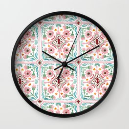 Moroccan Tile Pattern Wall Clock