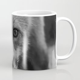 The Fox (Black and White) Coffee Mug