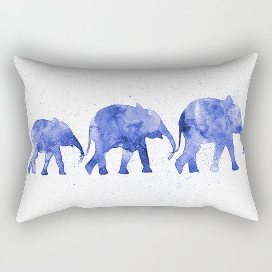 Blue elephants Rectangular Pillow