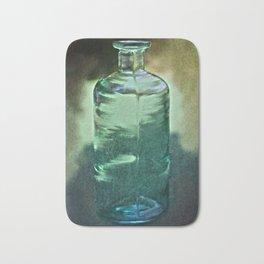 vintage green glass bottle Bath Mat