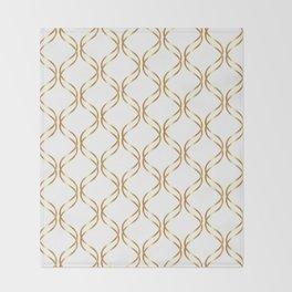 Double Helix - Gold #741 Throw Blanket