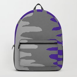 Splash of colour (purple & gray) Backpack