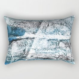 Gray Blue Marble wash drawing Rectangular Pillow