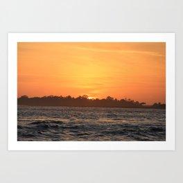Tybee Island Sunset Art Print