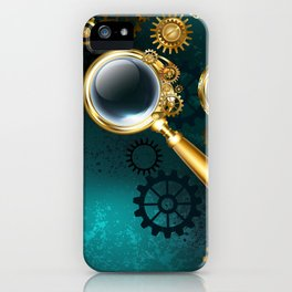 Magnifier in Steampunk Style iPhone Case