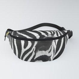 Portrait of Zebra Black and White #decor #society6 #buyart Fanny Pack