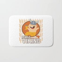 Viking Baby Son Dad Fathers Day Valhalla Gods Gift Bath Mat