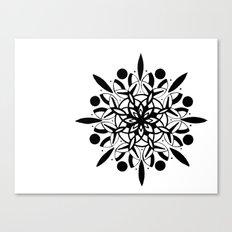 Mandala Design Pattern Black and White Sacred Geometry Yoga Boho art Canvas Print