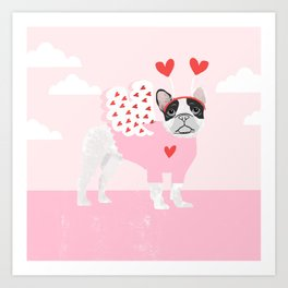 French Bulldog love valentines day gifts for dog lover pure bred frenchies forever Art Print