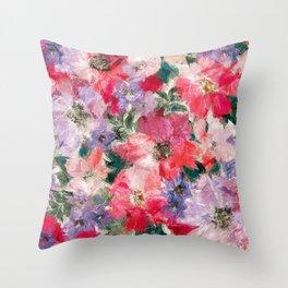 Splendid Flowers 2 Throw Pillow
