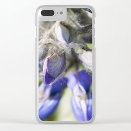 Lupine Flower Photography Print Clear iPhone Case