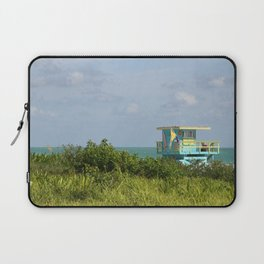 Lifegard Station At South Beach Miami Laptop Sleeve