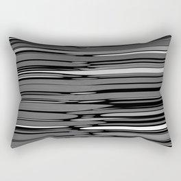 ASH - grey & black variegation Rectangular Pillow