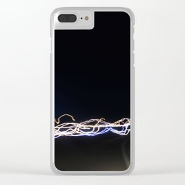 Light Waves Clear iPhone Case