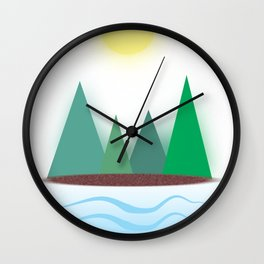 ModernTrees Wall Clock